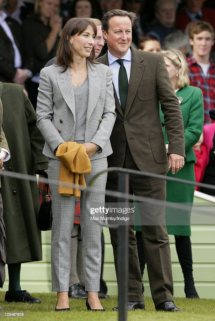 Samantha Cameron and Prime Minister David Cameron attend the annual Braemar Gathering at The Princess Royal and Duke of Fife Memorial Park on September 3, 2011 in Braemar, Scotland.