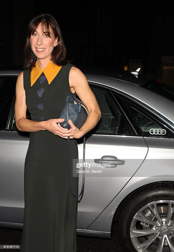Samantha Cameron arrives in an Audi at the RED Women of the Year Awards at Skylon on October 17, 2016 in London, England.