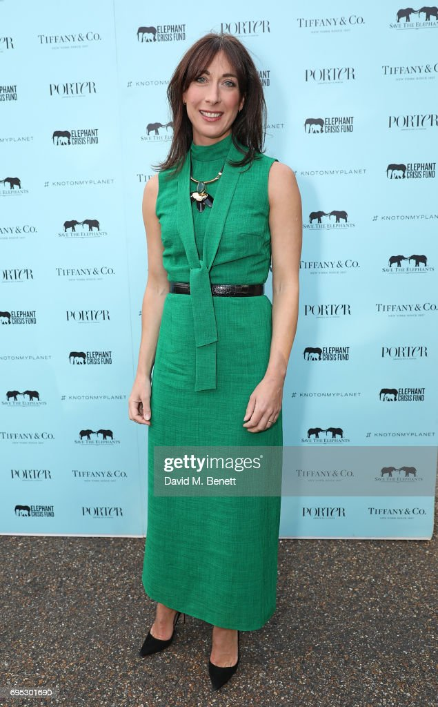 Samantha Cameron attends a dinner hosted by Doutzen Kroes and Lucy Yeomans in honour of Save the Elephants at The Orangery on June 12, 2017 in London, England.