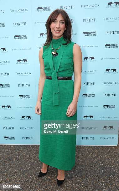 Samantha Cameron attends a dinner hosted by Doutzen Kroes and Lucy Yeomans in honour of Save the Elephants at The Orangery on June 12 2017 in London...
