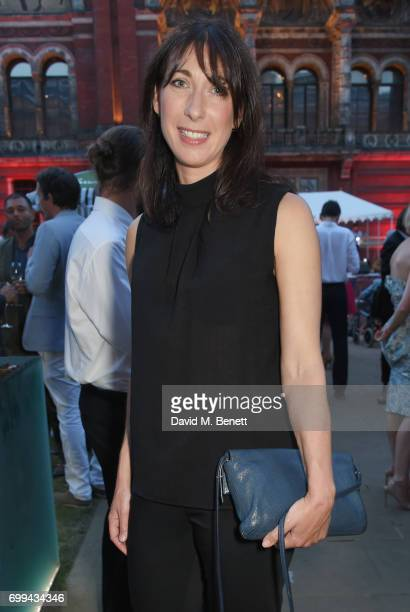 Samantha Cameron attends the 2017 annual VA Summer Party in partnership with Harrods at the Victoria and Albert Museum on June 21 2017 in London...