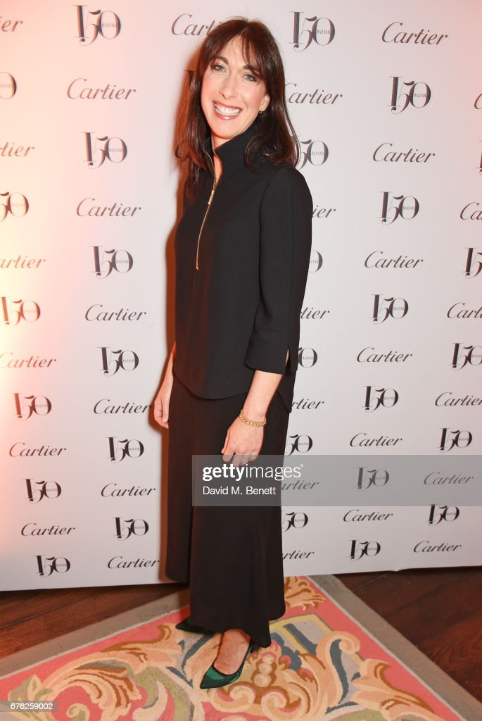 Samantha Cameron attends the Harper's Bazaar 150th Anniversary Party at William Kent House at The Ritz on May 2, 2017 in London, England.