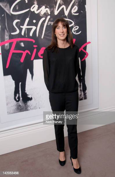 Samantha Cameron attends the launch of Alexandra Shulman's Debut Novel 'Can We Still Be Friends' at Sotheby's on March 28 2012 in London England