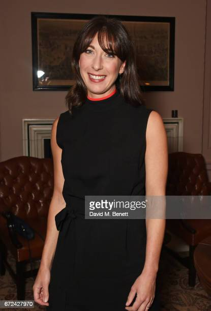 Samantha Cameron attends the NetaPorter Mr Porter preopening dinner cohosted by Jenny Dickinson and Jeremy Langmead in The Saloon at The Ned London...