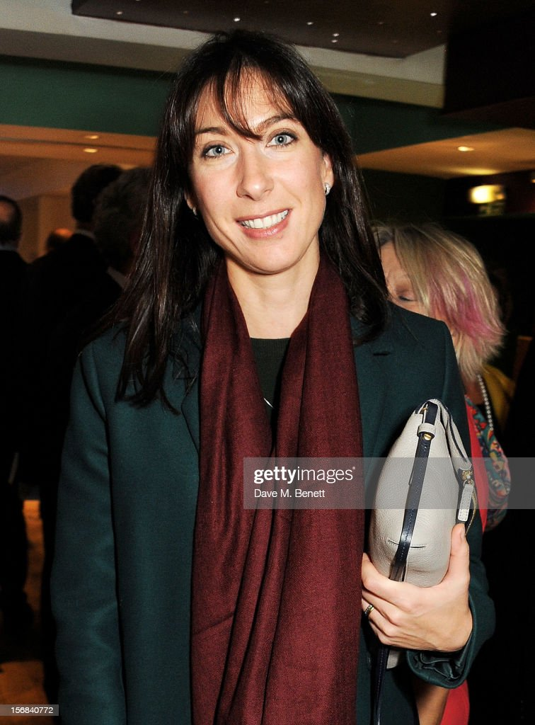 Samantha Cameron attends Tricycle Theatre's 'Red Velvet: The Director's Party' on November 22, 2012 in London, England.