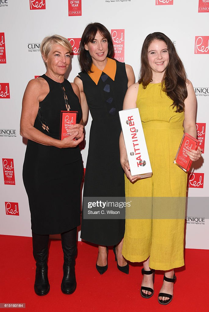 Samantha Cameron (C) presents an award during the Red Women of the year awards at The Skylon on October 17, 2016 in London, England.
