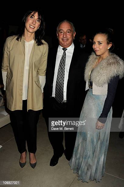 Samantha Cameron Sir Philip Green and Chloe Green attend the Burberry Prorsum Show at London Fashion Week Autumn/Winter 2011 at Kensington Gardens on...