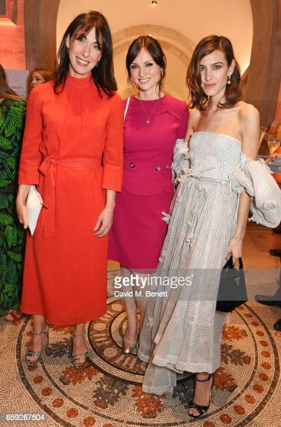 Samantha Cameron Sophie EllisBextor and Alexa Chung attend the Portrait Gala 2017 sponsored by William Son at the National Portrait Gallery on March...