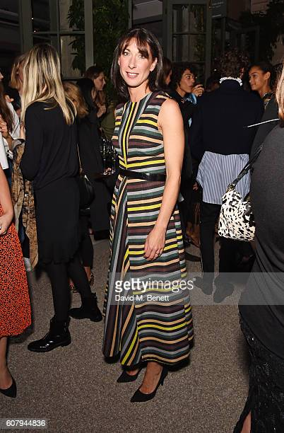 Samantha Cameron wearing Burberry at theBurberry September 2016 show during London Fashion Week SS17 at Makers House on September 19 2016 in London...