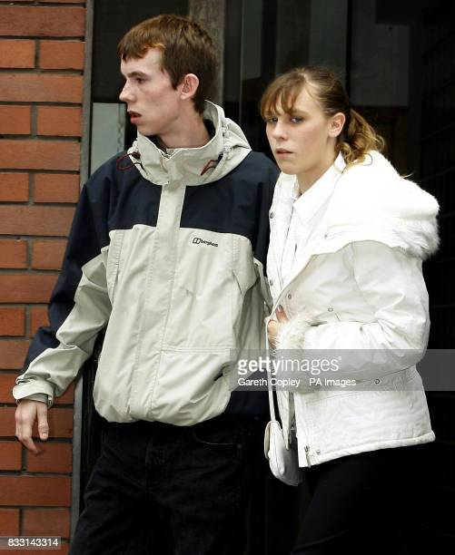 Samantha Canham and David Mullen parents of murdered Casey Leigh Mullen leave Leeds Crown Court after Michael Mullen was today told he must serve a...