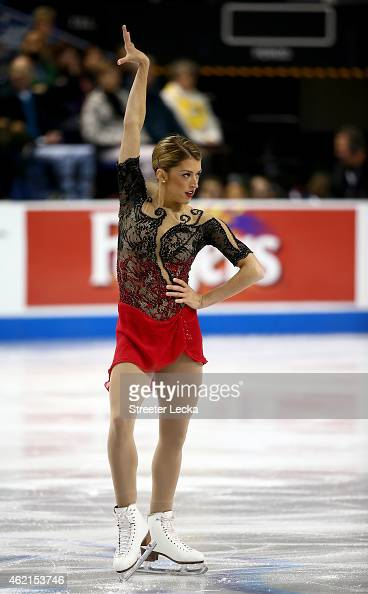 Samantha Cesario competes in the Championship Ladies Free Skate Program Competition during day 3 of the 2015 Prudential US Figure Skating...