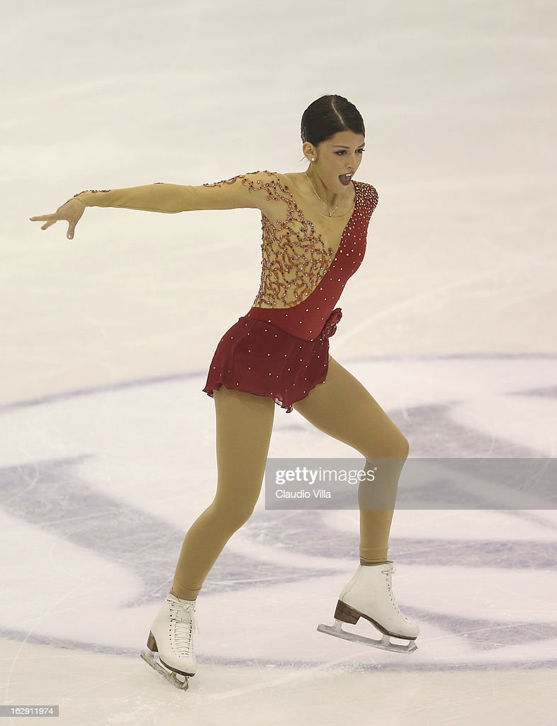 Samantha Cesario of Usa skates in the Junior Ladies Short Program during day 5 of the ISU World Junior Figure Skating Championships at Agora Arena on March 01, 2013 in Milan, Italy.