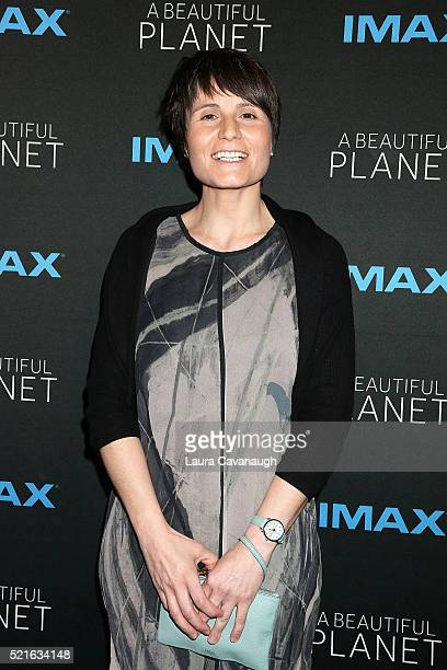 Samantha Cristoforetti attends 'A Beautiful Planet' New York Premiere at AMC Loews Lincoln Square on April 16 2016 in New York City