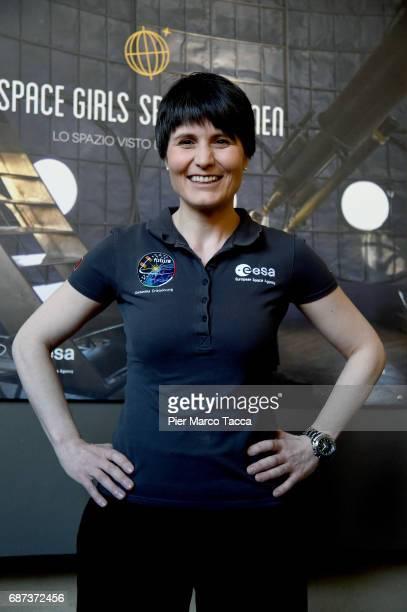 Samantha Cristoforetti attends the press meeting at Museo della Scienza e della Tecnica on May 22 2017 in Milan Italy