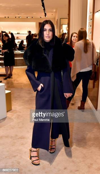 Samantha Crompton attends the Opening of the Salvatore Ferragamo Copley Place store on November 2 2017 in Boston Massachusetts
