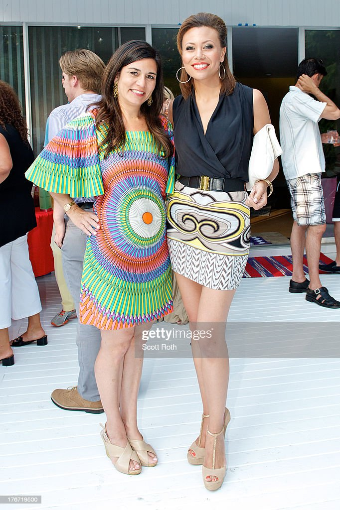 Samantha Daniels and Alyson Cambridge attend Celebrity Matchmaker, Samantha Daniels Hosts Cocktails For NYC Mayoral Candidate, Jack Hidary on August 17, 2013 in Wainscott, New York.