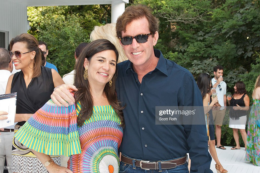 Samantha Daniels and Bill Brady attend Celebrity Matchmaker, Samantha Daniels Hosts Cocktails For NYC Mayoral Candidate, Jack Hidary on August 17, 2013 in Wainscott, New York.
