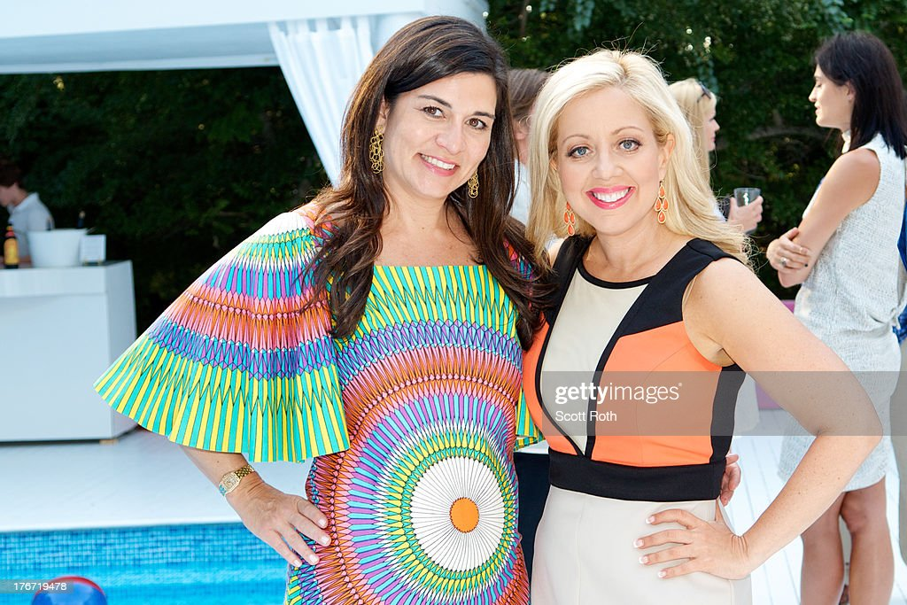 Samantha Daniels and Bonnie Schneider attend Celebrity Matchmaker, Samantha Daniels Hosts Cocktails For NYC Mayoral Candidate, Jack Hidary on August 17, 2013 in Wainscott, New York.