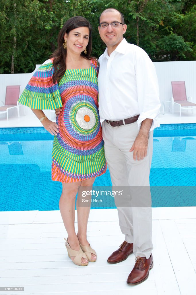 Samantha Daniels and Jack Hidary attend Celebrity Matchmaker, Samantha Daniels Hosts Cocktails For NYC Mayoral Candidate, Jack Hidary on August 17, 2013 in Wainscott, New York.