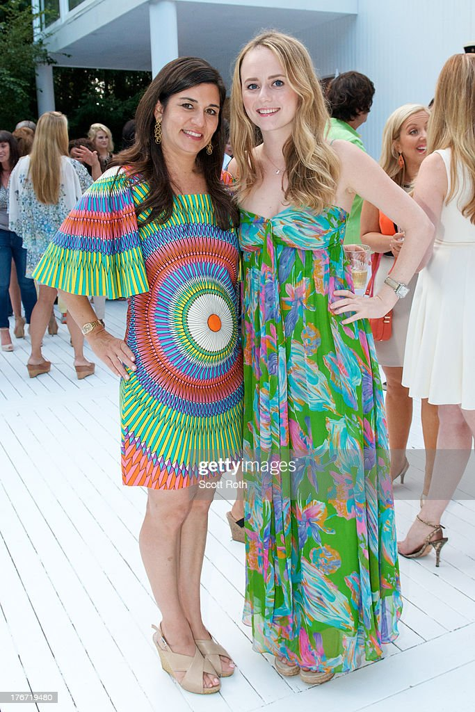 Samantha Daniels and Janie Bruyere attend Celebrity Matchmaker, Samantha Daniels Hosts Cocktails For NYC Mayoral Candidate, Jack Hidary on August 17, 2013 in Wainscott, New York.