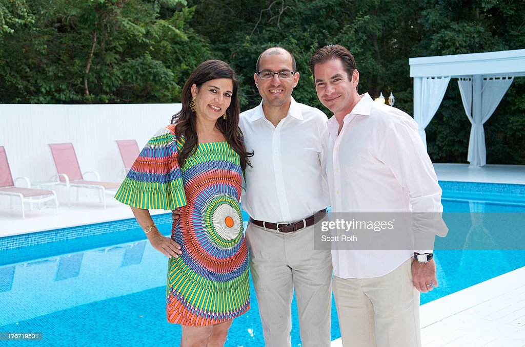 Samantha Daniels, Jack Hidary, and Steve Farber attend Celebrity Matchmaker, Samantha Daniels Hosts Cocktails For NYC Mayoral Candidate, Jack Hidary on August 17, 2013 in Wainscott, New York.
