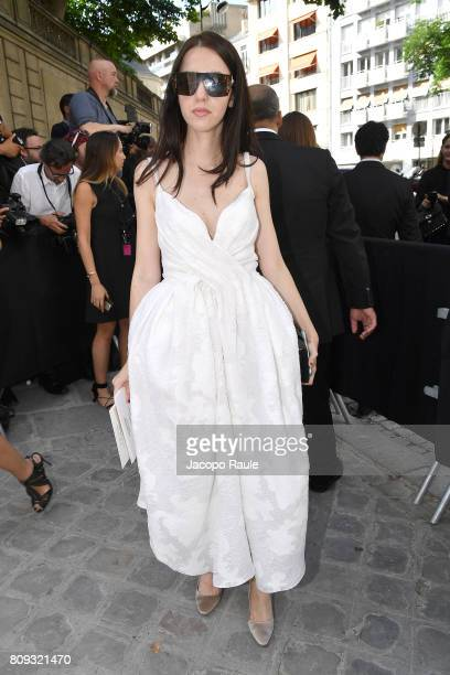 Samantha De Reviziis is seen arriving at Valentino fashion show during the Paris Fashion Week Haute Couture Fall/Winter 20172018 on July 5 2017 in...