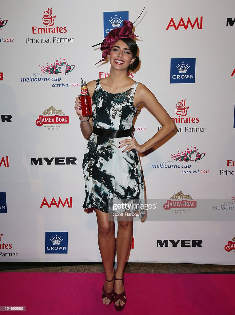 Samantha Downie attends the The 2012 Melbourne Cup Carnival Launch at Crown Palladium on October 29, 2012 in Melbourne, Australia.
