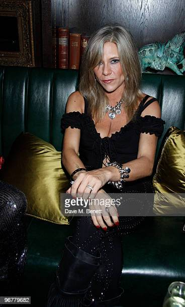 Samantha Fox attends the Brit Awards after party held by Sony at the Kensington Hotel on February 16 2010 in London England