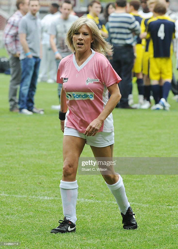 <a gi-track='captionPersonalityLinkClicked' href=/galleries/search?phrase=Samantha+Fox+-+Singer&family=editorial&specificpeople=227348 ng-click='$event.stopPropagation()'>Samantha Fox</a> attends the Celebrity Soccer Six 2012 Tournament at Upton Park on May 20, 2012 in London, England.