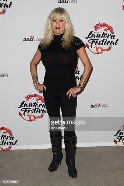 Samantha Fox attends the VIP launch of Magical Lantern Festival at Chiswick House And Gardens on February 3 2016 in London England