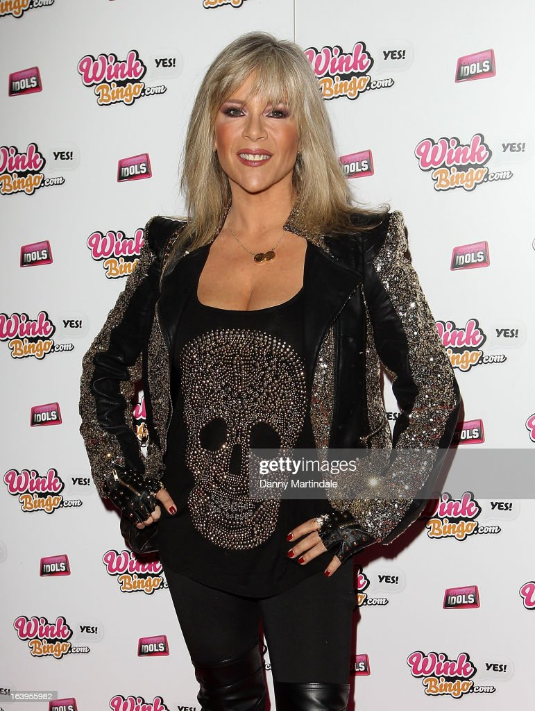 Samantha Fox attends the Wink Bingo Celebrity Female Take Over on March 18, 2013 in London, England.