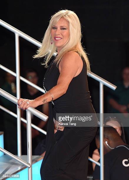 Samantha Fox becomes the 8th housemate evicted from Celebrity Big Brother 2016 at Elstree Studios on August 23 2016 in Borehamwood United Kingdom