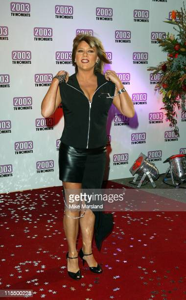 Samantha Fox during The Best of 2003 TV Moments Arrivals at BBC Television Centre in London Great Britain