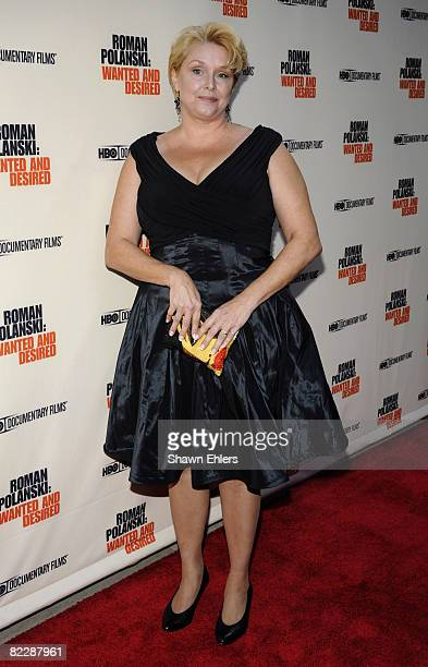 Samantha Geimer attends the premiere of the HBO documentary 'Roman Polanski Wanted and Desired' at the Paris Theatre on May 6 2008 in New York City