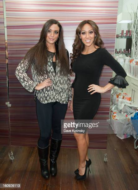 Samantha Giancola and Melissa Gorga attends Lasio Studios Salon Grand Opening at Lasio Studios on February 7 2013 in New York City