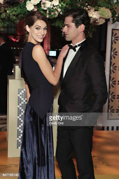 Samantha Gradoville and Sean O'Pry attend the 2017 New Yorkers for Children Fall Gala at Cipriani 42nd Street on September 14 2017 in New York City