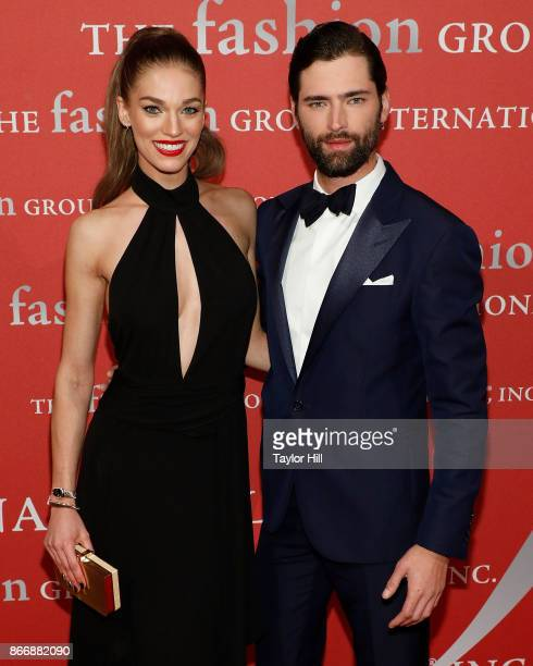 Samantha Gradoville and Sean O'Pry attend the 2017 Night Of Stars Gala at Cipriani Wall Street on October 26 2017 in New York City