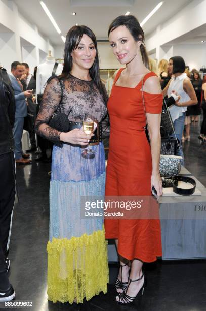 Samantha Haas and TV personality Catt Sadler attend DIOR SS17 Collection Launch at Maxfield on April 5 2017 in Los Angeles California