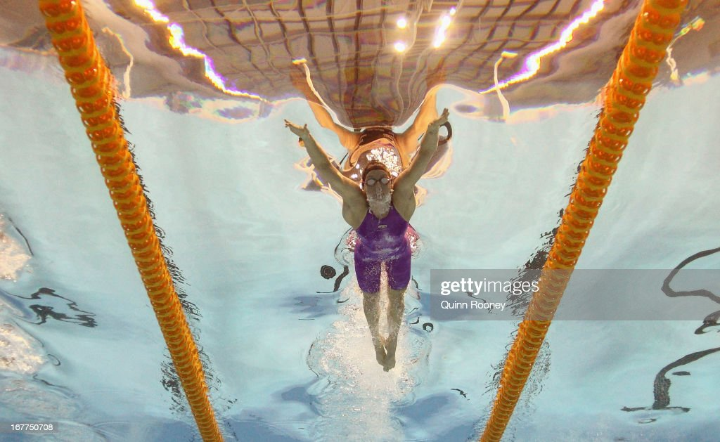 Samantha Hamill of Australia competes in the Women's 200 Metre Butterfly Semi Final during day four of the World Swimming Championships at SA Aquatic and Leisure Centre on April 29, 2013 in Adelaide, Australia.