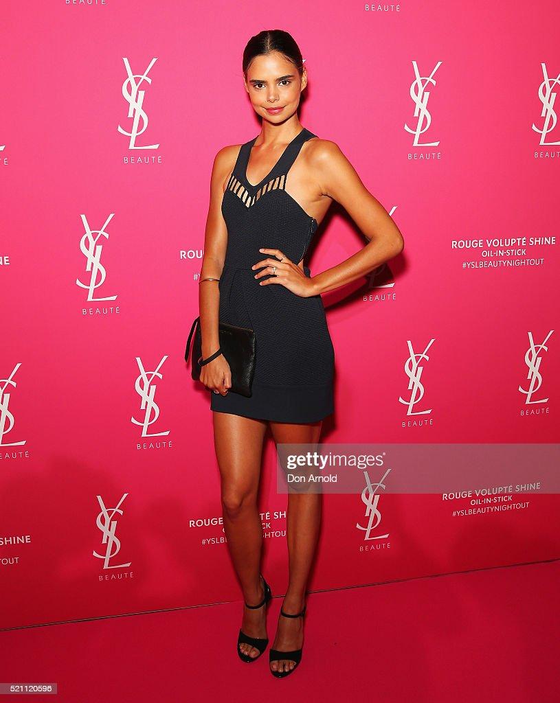 Gemma Ward Attends YSL Beauty Launch