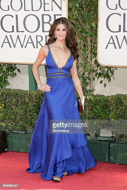 Samantha Harris arrives for the 66th Annual Golden Globes Award in Beverly Hills California US on Sunday Jan 11 2009 Heath Ledger received a...