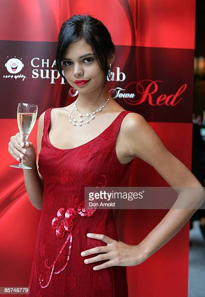 Samantha Harris attends the Chandon Supper Club dinner at the Hilton Hotel on April 1 2009 in Sydney Australia