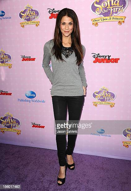 Samantha Harris attends the premiere of 'Sofia The First Once Upon a Princess' at Walt Disney Studios on November 10 2012 in Burbank California