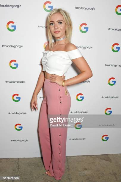 Samantha Harvey attends Google's Pixel 2 phone launch at The Old Selfridges Hotel on October 4 2017 in London England