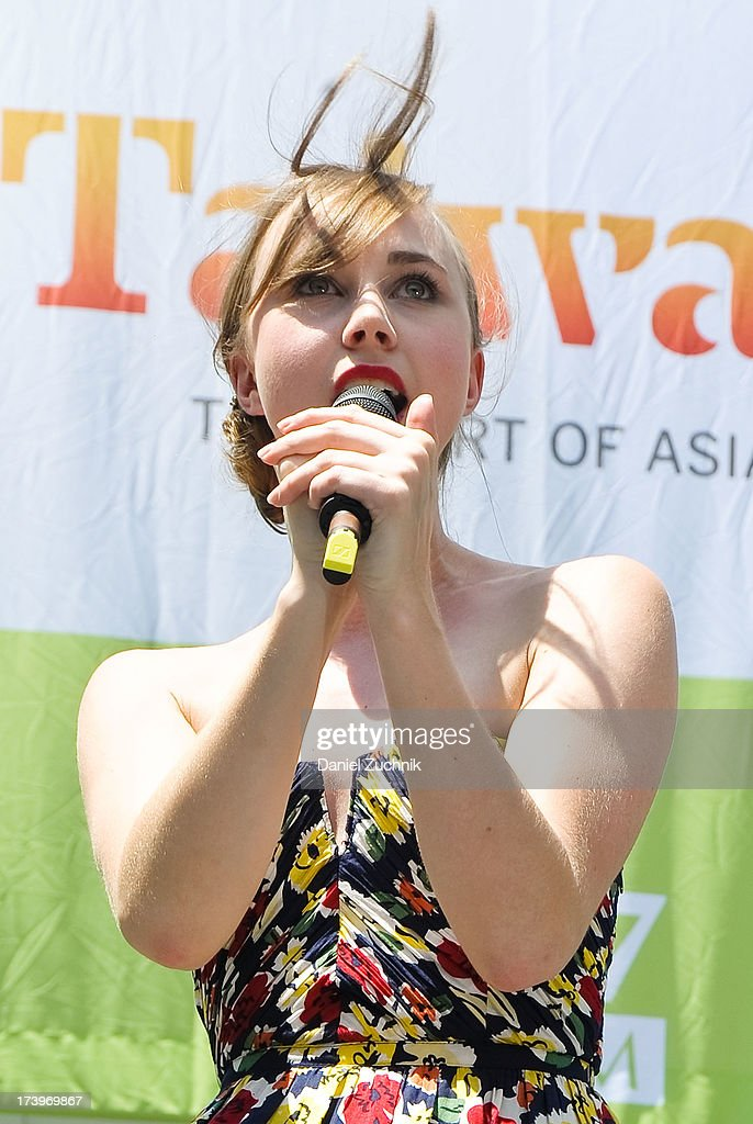 Samantha Hill from 'Phantom of the Opera' performs during 106.7 LITE FM's Broadway in Bryant Park 2013 at Bryant Park on July 18, 2013 in New York City.