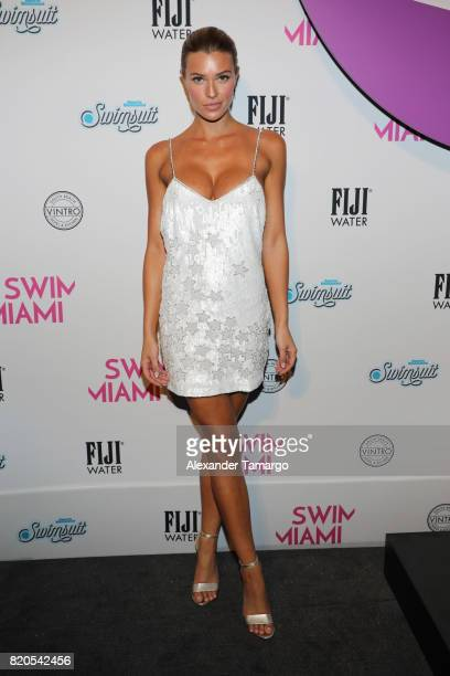 Samantha Hoopes attends SWIMMIAMI HotAsHell 2018 Collection at 227 22nd Street on July 21 2017 in Miami Beach Florida