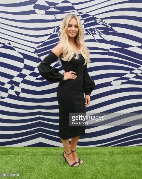 Samantha Jade attends TAB Everest Day at Royal Randwick Racecourse on October 14 2017 in Sydney Australia
