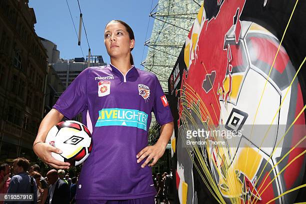 Samantha Kerr of the Glory poses during the 2016/17 WLeague Season Launch on October 31 2016 in Sydney Australia
