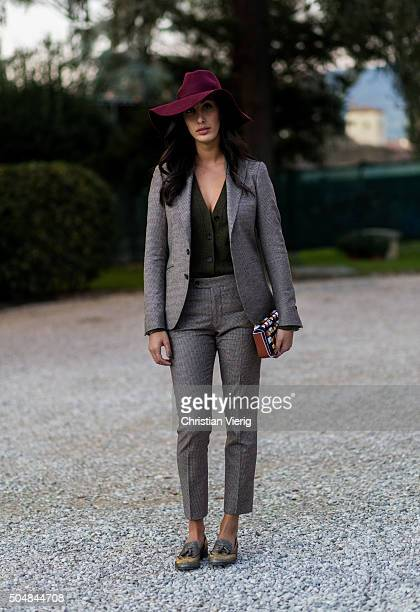 Samantha Leder during Pitti Uomo 89 on January 13 in Florence Italy