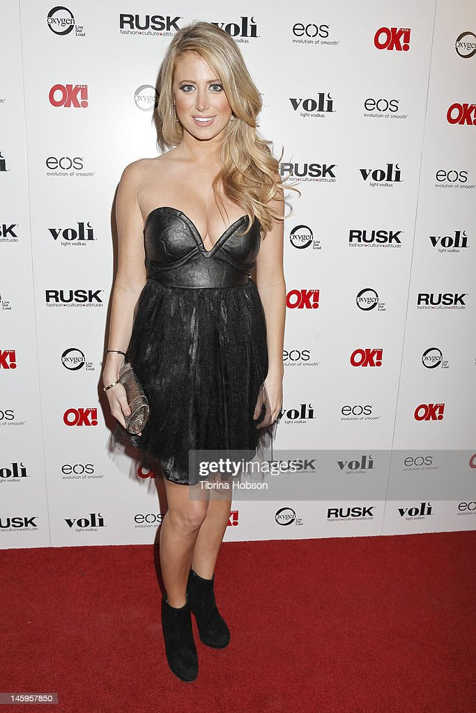 Samantha Levey attends the OK! Magazine's sexy singles party at The Roxbury on June 7, 2012 in Hollywood, California.